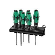 Wera 105650 Kraftform 334/6 Screwdriver Set of 6 4 x SL, 2 x PH