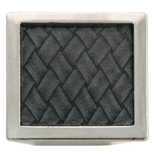 Laurey 12299 1.63 in. Square Knob - Polished Nickel & Black