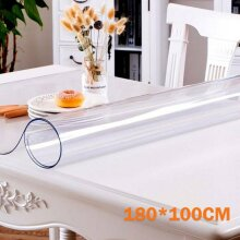 180*100cm Waterproof Clear PVC Tablecloth Transparent Table Protector
