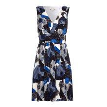 Yumi Womens/Ladies V Neck Printed Skater Dress