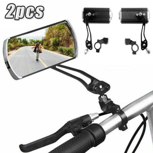 Handlebar End Rear View Mirror Bike Bicycle Cycle Rotating MTB Safety 2PCS