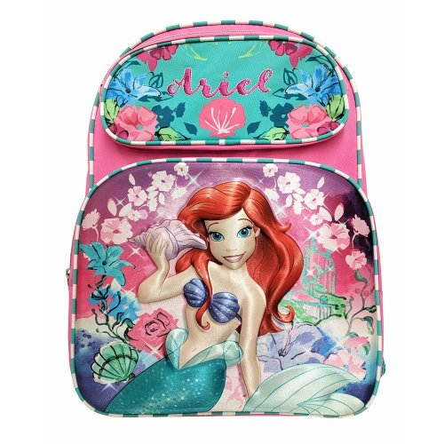 Backpack - Disney - Little Mermaid Ariel Flower 3D Pop-Up New 178253-2
