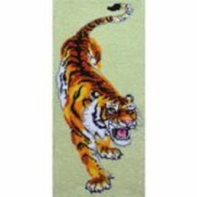 "Latch Hook Rug Kit""Prowling Tiger""113x45cm"