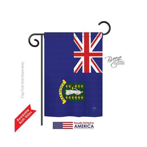 Breeze Decor 58337 British Virgin Islands 2-Sided Impression Garden Flag - 13 x 18.5 in.