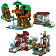 Minecraft Tree house Blocks CubeWorld Model Compatible with lego