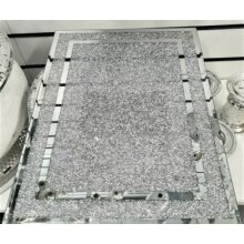 New Large Silver Diamond Crushed Crystal Filled Chopping Serving Board