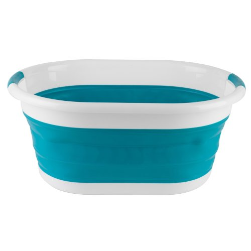 Beldray LA034816TQ Oval Collapsible Laundry Basket, Turquoise