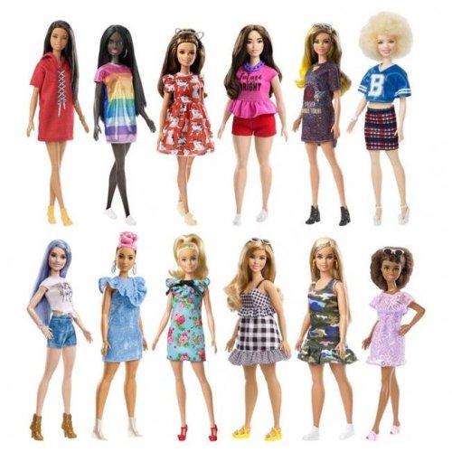 Mattel MTTFBR37 Barbie Fashnst Doll Assortment - 1 Doll 6 Accessories