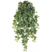 38 Inch Puff Ivy Hanging Bush x12 with 260 Leaves - Green - Qty of 6