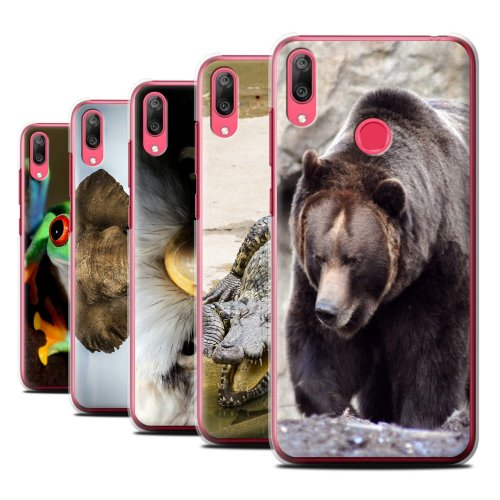 Wildlife Animals Huawei Y7/Prime/Pro (2019) Phone Case Transparent Clear Ultra Slim Thin Hard Back Cover for Huawei Y7/Prime/Pro (2019)