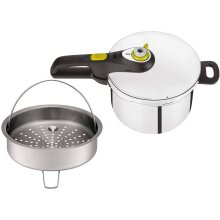 Tefal P2530738 Secure 5 Neo Stainless Steel Pressure Cooker, Induction