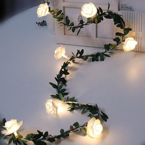 Romantic Flower Rose Fairy Light Lamp  Christmas Holiday House Patio Decoration