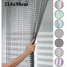 214 x 90cm Aluminium Chain Curtain Insect Blinds