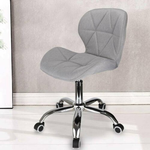 Cushioned Computer Desk Office Chair Chrome Legs Lift Swivel
