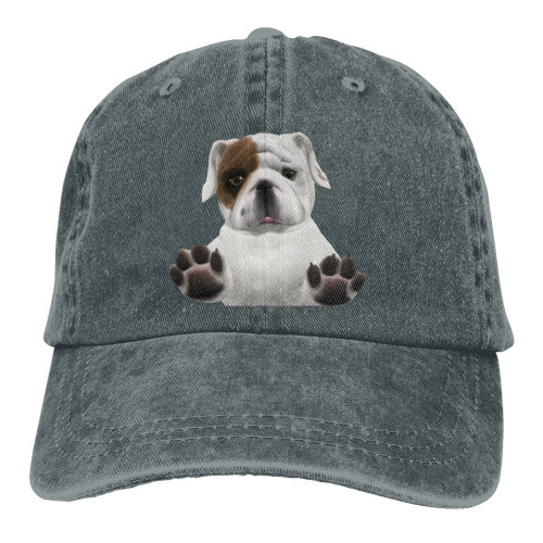 Bulldog Denim Baseball Caps