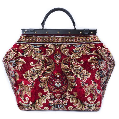 SAC-VOYAGE Blossom Red - large Mary Poppins Victorian CARPET BAG