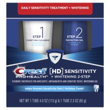Crest Pro Health HD Toothpaste Teeth Whitening and Healthier Mouth via Daily Two Step System