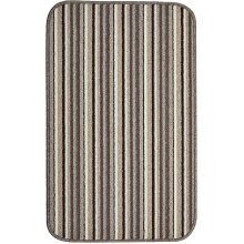 Dandy by William Armes, Ios Stripe Indoor Washable Rug, Silver, 80 x 50