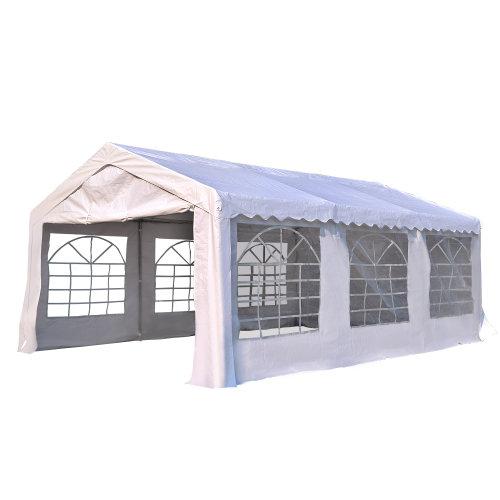 Outsunny Garden Gazebo Marquee Party Tent Wedding Portable Garage Carport