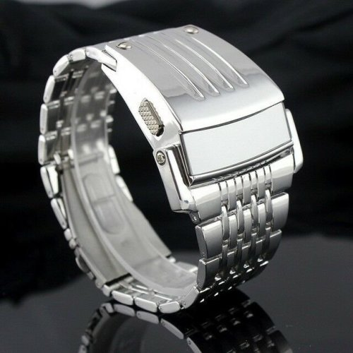 Attractive Men Digital Big Wrist Watch LED Display for Iron Man Style