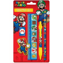 SUPER MARIO 5 Item Stationery School Set