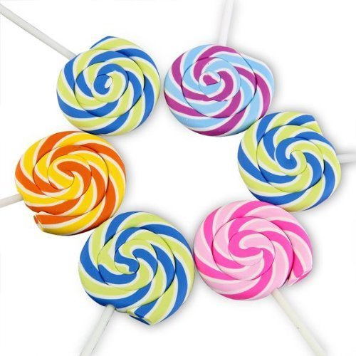 Swirls Lollipop Candy Cute Erasers Novelty Fun Kids Rubbers Party Gift Bag Fillers Assorted 2 Pk