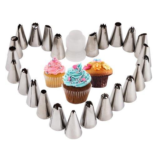 DIY Cake Decorating Kit Cloth Bag Set Tips Supplies Tools Nozzles Piping Cupcake