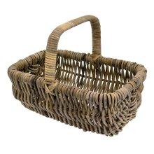 Kubu Rattan Strong Vegetable Fruit  Shopping Garden Cradle Trug Storage Basket
