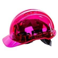 Portwest PV60PIR Peak View Chiusura a Rotella Ventilato Helmet, Pink