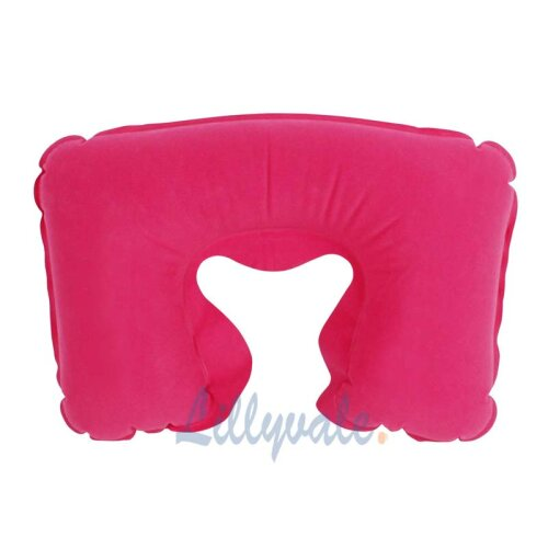 INFLATABLE TRAVEL NECK PILLOW -HOT PINK