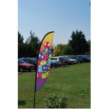 Custom Printed Crest Flags to your design for exhibition outdoor events