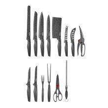 24pc Tower Stone-Coated Knife Set