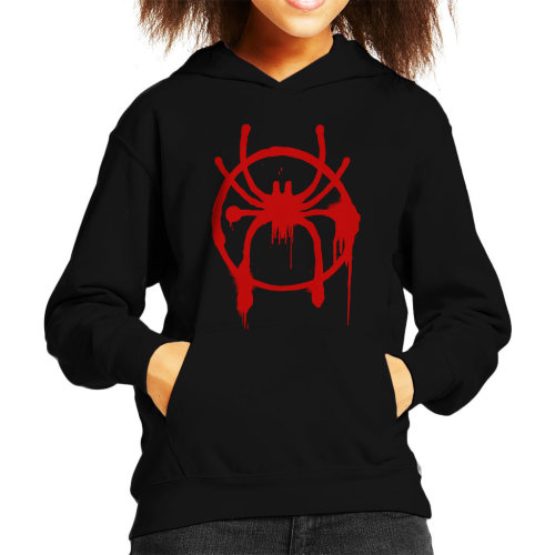 (X-Small (3-4 yrs)) Spider Man Into The Spiderverse Spray Paint Kid's Hooded Sweatshirt