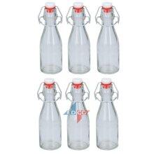 Set Of 6 Swing Top 150ml Glass Oil Vinegar Sauce Storage Preserve Bottles