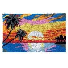 Sunset Rug Latch Hooking Kit (85x58cm)