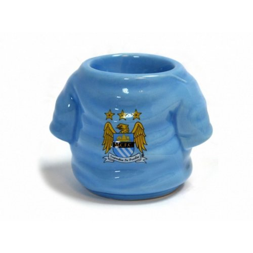 Manchester City Official Football Shirt Egg Cup Gift Boxed