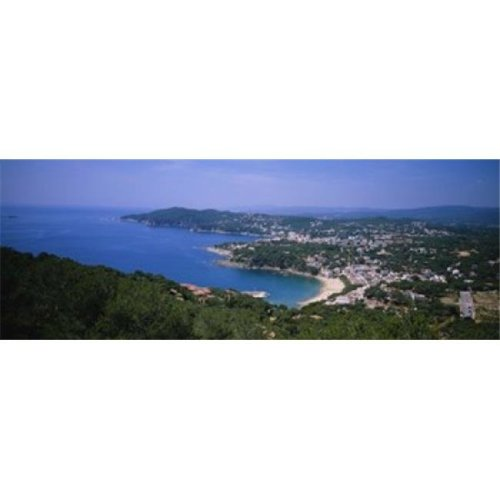 High angle view of a bay  Llafranc  Costa Brava  Spain Poster Print by  - 36 x 12