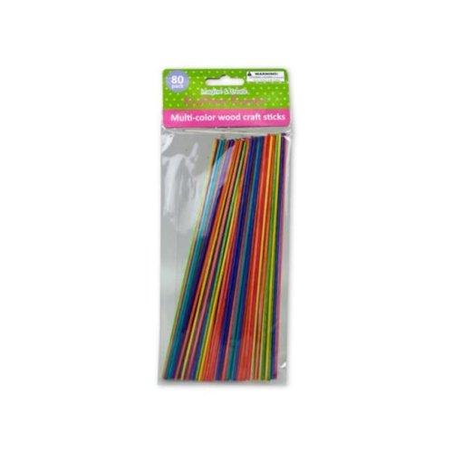 Kole Imports CG997-72 8 in. Multi-Color Wood Craft Sticks, 72 Piece