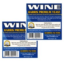 2x Harris Premium Wine Yeast 5g for 5L-23L 18% ABV High Alcohol All Wine Types