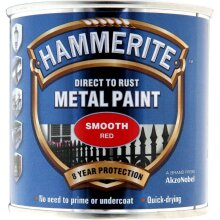 Metal Paint Smooth 250ml, Red, Red, By Hammerite
