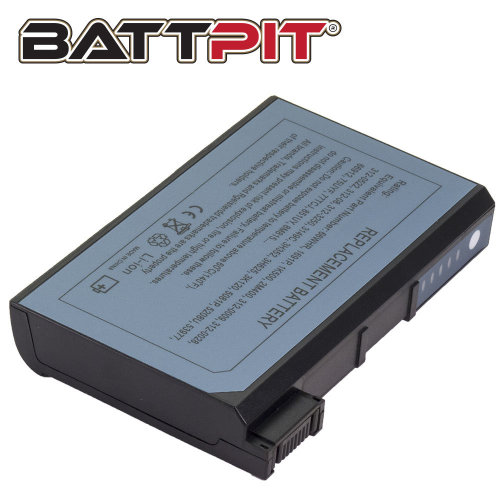 BattPit Battery for Dell 01J433 1691P 75UYF Latitude CPX C510 C610 C640 C840 Inspiron 8000 8100 8200 [8-Cell/65Wh]