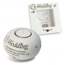 Said with Sentiment Tea Light and Frame Gift Set -Wedding