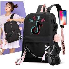 Tik Tok Backpack Shoulder Bag Schoolbag Rucksack Boys Girls New Term Gift