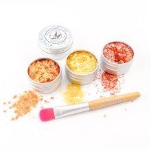 EcoStardust Citrus Biodegradable Trio-Glitter, Gel, Brush Set PURE