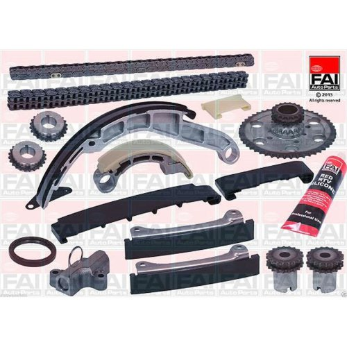 For Nissan Navara 2.5 DCI D40 Timing Chain Kit Tensioner Sprockets Guides Rails