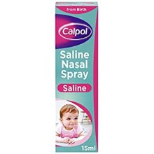 Calpol Saline Nasal Spray Natural Congestion Relief Suitable from Birth 15 ml