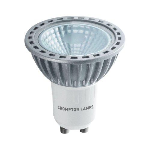 Crompton LED GU10 COB 4W Non-Dimmable Spotlight, 30° Beam, Daylight