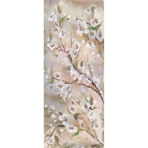 Cherry Blossoms Taupe Panel I Poster Print by Tre Sorelle Studios, 10 x 20 - Small
