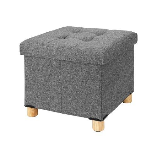(Dark gray) Stool Cube Footstool Bench Chair Storage Stool