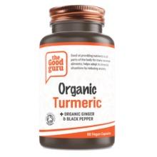 Organic Turmeric+Organic Ginger & Black Pepper Supplement, Gluten-free